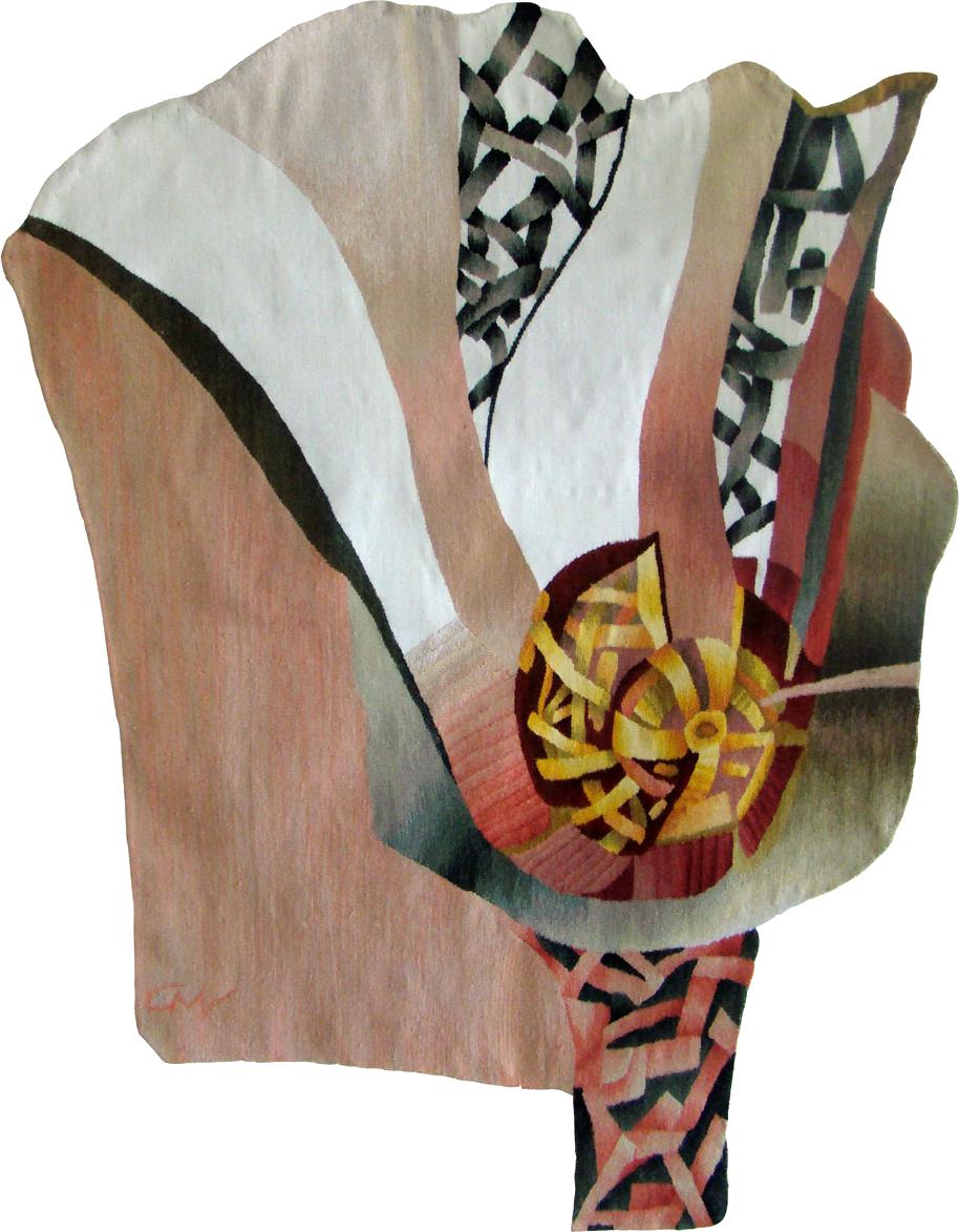 Florală II - 140x100cm Tehnica  haute-lisse