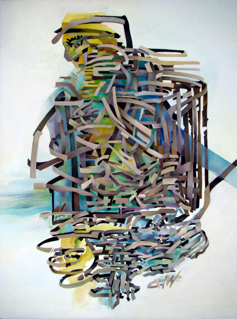 Fish Man - 120x90cm Oil on canvas