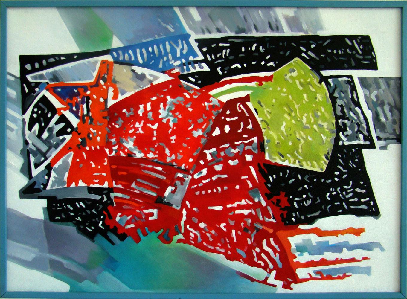 Fish - 50x70 cm Oil on canvas
