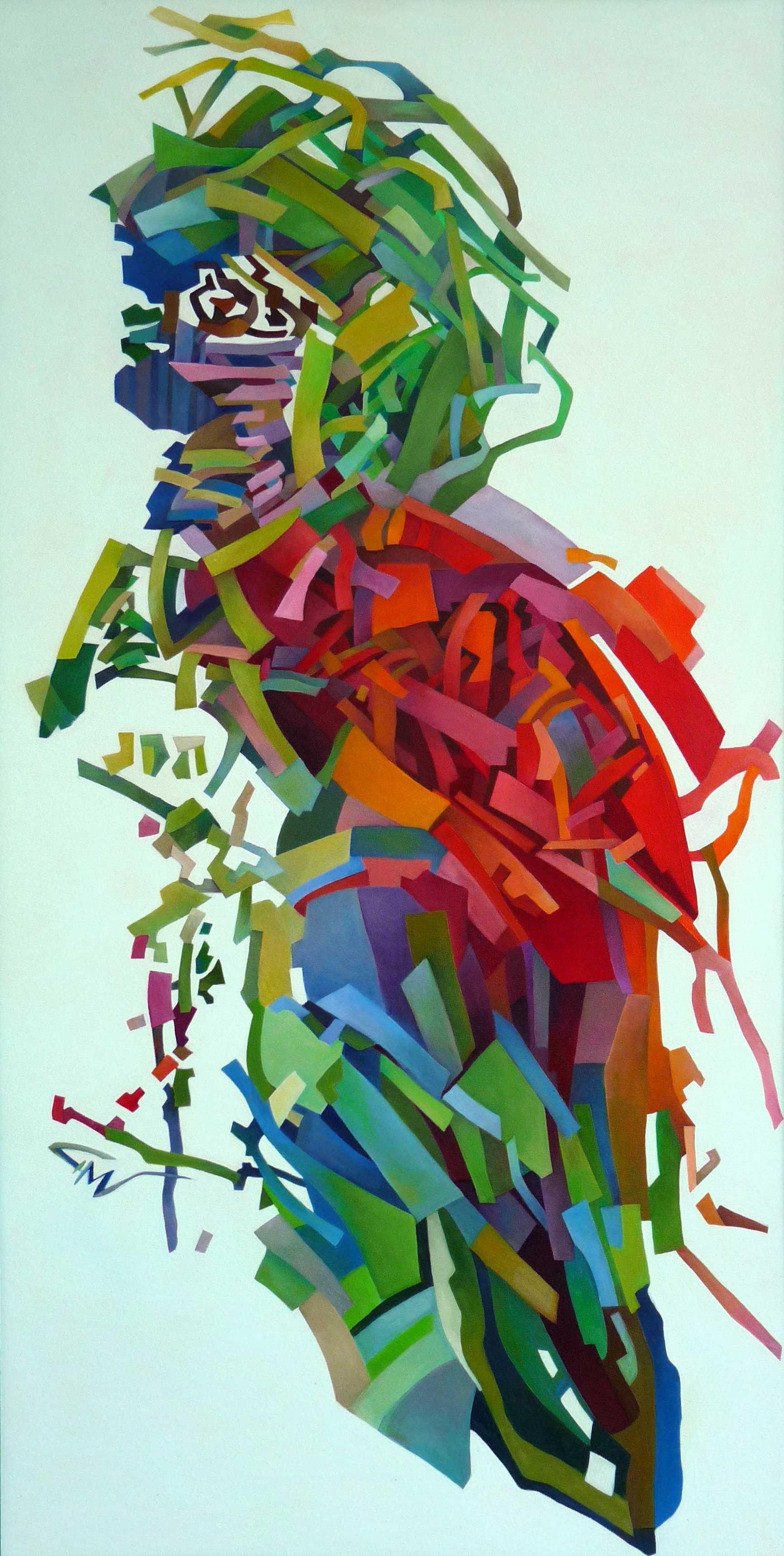 Omul Pasăre - 120x80cm Ulei pe pânză